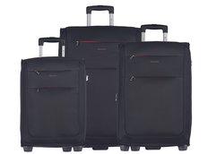 Moderní cestovní kufry CAMERINO - černé