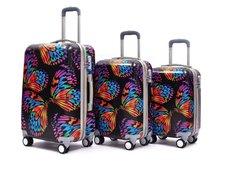 Moderní cestovní kufry BUTTERFLY colorful