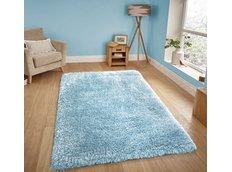 Moderní kusový koberec SHAGGY NOVO - modrý