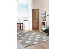 Dětský koberec Space HVĚZDY - šedý - 120x170 cm