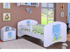 Dětská postel bez šuplíku 160x80cm MODRÝ MEDVÍDEK