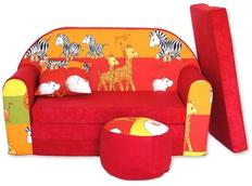 Dětská pohovka Červená žirafa - Dětské pohovky