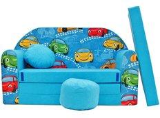 Dětská pohovka Blue cars - Dětské pohovky