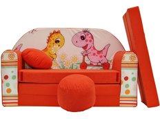 Dětská pohovka Červená dino - Dětské pohovky