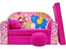 Dětská pohovka Růžová ZOO - Dětské pohovky