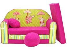 Dětská pohovka Růžový králíček - Dětské pohovky
