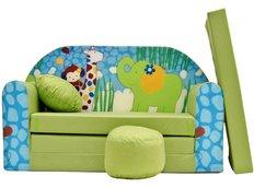 Dětská pohovka Zelená ZOO - Dětské pohovky