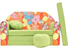 Dětská pohovka Zelená kytička - Dětské pohovky