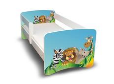 Dětská postel s krásným motivem - ZOO
