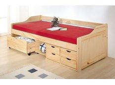 Dětská postel z masivu se šuplíky 200x90cm - MAXIMUS