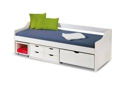 Dětská postel z masivu se šuplíky 200x90cm FLÓRA