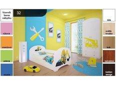 Dětská postel pro DVA (s výsuvným lůžkem) 180x90 cm - BAGR
