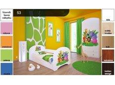 Dětská postel pro DVA (s výsuvným lůžkem) 180x90 cm - MADAGASKAR