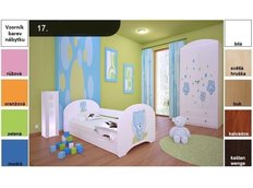 Dětská postel pro DVA (s výsuvným lůžkem) 180x90 cm - MODRÝ MEDVÍDEK