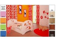 Dětská postel pro DVA (s výsuvným lůžkem) 180x90 cm - PEJSEK A KOČIČKA