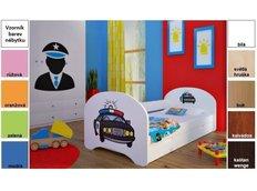Dětská postel pro DVA (s výsuvným lůžkem) 180x90 cm - POLICIE