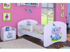 Dětská postel bez šuplíku 160x80cm SLON A MOTÝLCI