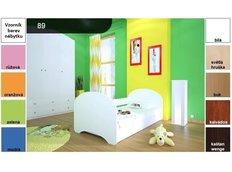 Dětská postel pro DVA (s výsuvným lůžkem) 180x90 cm - BEZ MOTIVU