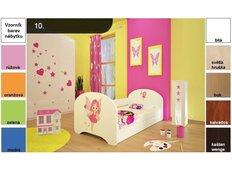 Dětská postel pro DVA (s výsuvným lůžkem) 160x80 cm - Víla
