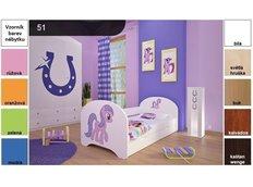 Dětská postel pro DVA (s výsuvným lůžkem) 160x80 cm - HORSE