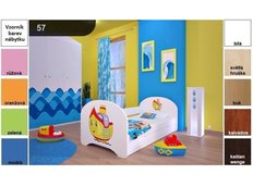 Dětská postel pro DVA (s výsuvným lůžkem) 160x80 cm - LOĎ