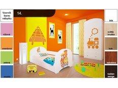 Dětská postel pro DVA (s výsuvným lůžkem) 160x80 cm - LOKOMOTIVA