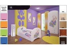 Dětská postel pro DVA (s výsuvným lůžkem) 160x80 cm - MEDVÍDEK V AUTĚ 2