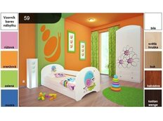 Dětská postel pro DVA (s výsuvným lůžkem) 160x80 cm - ŠNEK