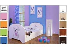 Dětská postel pro DVA (s výsuvným lůžkem) 160x80 cm - VESELÝ PEJSEK