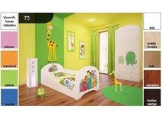 Dětská postel pro DVA (s výsuvným lůžkem) 160x80 cm - ZOO