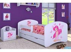 Dětská postel se šuplíkem 160x80cm VÍLA A MOTÝLCI