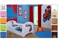 Dětská postel pro DVA (s výsuvným lůžkem) 200x90 cm - MAŠINKA