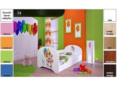 Dětská postel pro DVA (s výsuvným lůžkem) 200x90 cm - MEDVÍDCI S BALONKY