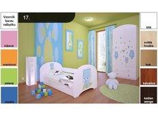 Dětská postel pro DVA (s výsuvným lůžkem) 200x90 cm - MODRÝ MEDVÍDEK