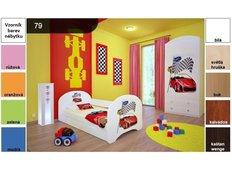 Dětská postel pro DVA (s výsuvným lůžkem) 200x90 cm - RALLY
