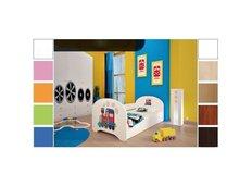 Dětská postel pro DVA (s výsuvným lůžkem) 200x90 cm - SUPER LOKOMOTIVA