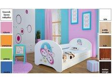 Dětská postel pro DVA (s výsuvným lůžkem) 200x90 cm - MOTÝLEK