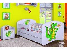 Dětská postel se šuplíkem 180x90cm ZELENÝ DRAK