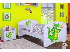 Dětská postel bez šuplíku 180x90cm ZELENÝ DRAK