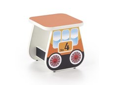 Dětská obrázková stolička - Lokomotiva - oranžová