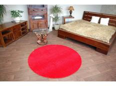 Kulatý koberec ČERVENÝ