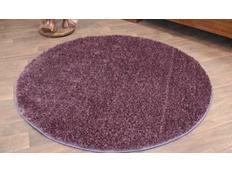 Kulatý koberec SHAGGY PLUM