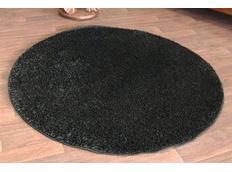 Kulatý koberec SHAGGY BLACK