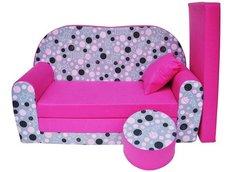 Dětská pohovka PUNTÍKY růžová - Dětské pohovky