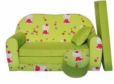 Dětská pohovka KOČIČKA - zelená - Dětské pohovky