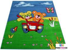 Dětský koberec MEDVÍDEK modrý