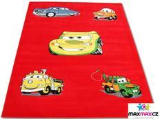 Dětský koberec CARS red