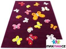 Dětský koberec BUTTERFLY purple