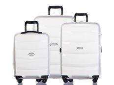Moderní cestovní kufry ACAPULCO - bílé