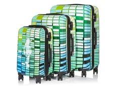 Cestovní kufry GREENLINE - zelené
